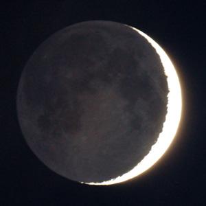Aschgrauer Mond